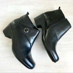 Clark's Black Ankle Booties